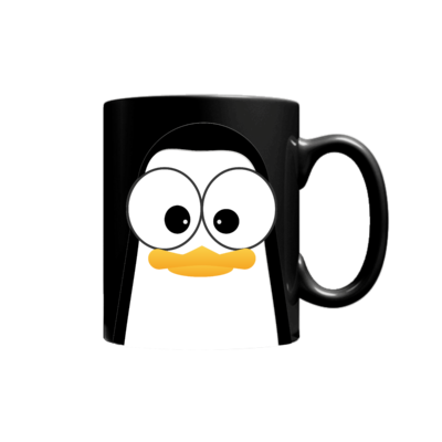 Crazy Pinguins Mug Black