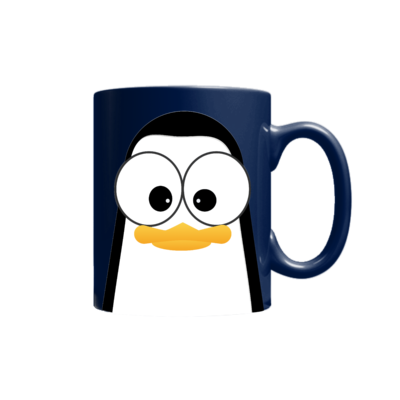 Crazy Pinguins Mug Blue