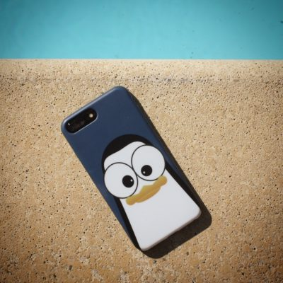 Crazy Pinguins Case iPhone Blue